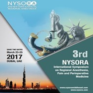 3rd International Symposiumon Regional Anesthesia, Pain And Perioperative Medicine