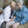 Patient-healthcare worker interaction in a nursing home