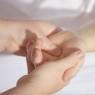 Hand being masssaged