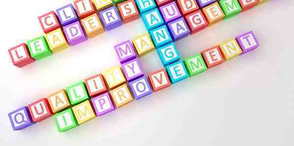 Letter blocks spelling out quality words