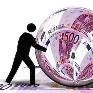 Figure pushing Euro