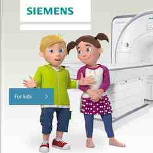 1. Partial view of tablet view of MRI scan app 2. Screenshot of Radiology for kids app showing MRI room