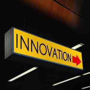 Sign saying Innovation