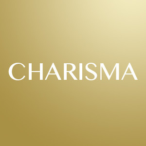 The word charisma in gold