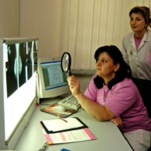 review of x-rays taken for breast cancer screening