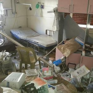 Photo of damage in Syrian ICU