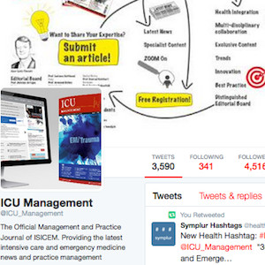 Screenshot of ICU Management's Twitter page