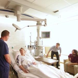 Patient room in the ICU