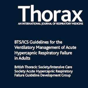 Cover of Thorax journal