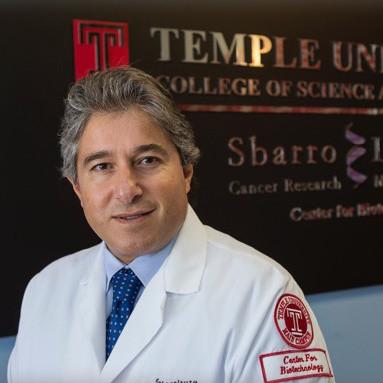 Prof. Antonio Giordano, director of the Sbarro Institute for Cancer Research and Molecular Medicine at Temple University