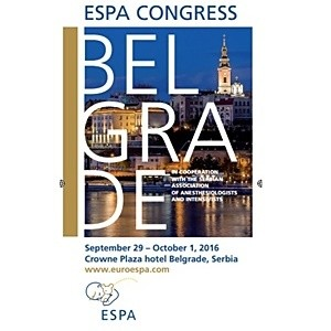 2016 Belgrade-8th European Congress on Paediatric Anaesthesia