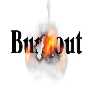Graphic depicting burnout, credit Pixabay