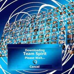 Computer graphic, downloading team spirit, credit Pixabay