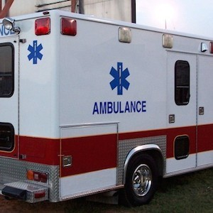Ambulance, credit freeimages.com; photo of Prof. Xavier Jouven