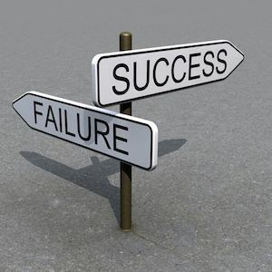 Success failure signs, credit Pixabay