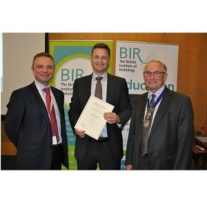 Professor Stephan Achenbach receives  The BIR Sir Godfrey Hounsfield Memorial Award