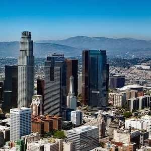 Los Angeles skyline, credit Pixabay