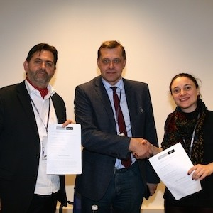 Christian Marolt, Executive Director, HealthManagement, Prof. Valentin Sinitsyn, Russian Society of Radiology, Iphigenia Papaioanou, Project Director, HealthManagement