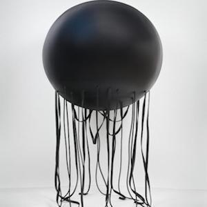 This is an iron based sculpture by Portuguese Artist Rui Chafes 'Extinguish my eyes' (2005)