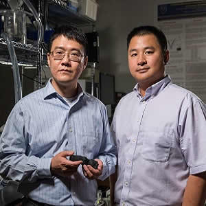 Zhen Qian, chief of Cardiovascular Imaging Research at Piedmont Heart Institute, and Kan Wang, a researcher at Georgia Tech.