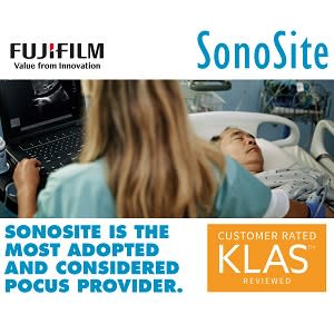 FUJIFILM SonoSite most adopted and considered vendor for point-of-care ultrasound according to KLAS
