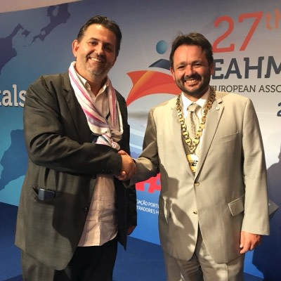 Christian Marolt, Executive Director, HealthManagement with Philippe Blua