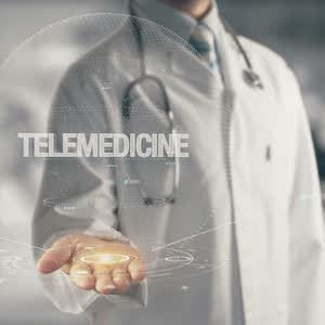 Abstract photo of doctor and telemedicine